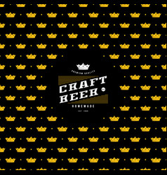 Label and frame with pattern for craft beer vector