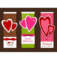 valentines day postcards vector image