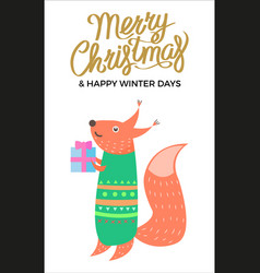 merry christmas and winter vector image vector image