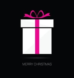 merry christmas gift box vector image vector image