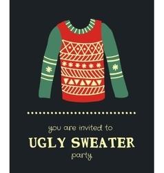 Sweater invitation 3 vector
