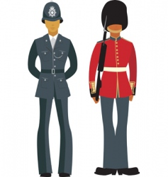 traditional British officers vector image vector image