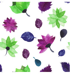 watercolor seamless floral pattern flowers vector image vector image