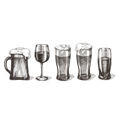 drinks logo design template glasses or vector image