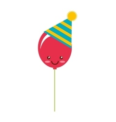 Party balloon isolated icon vector