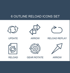 6 reload icons vector