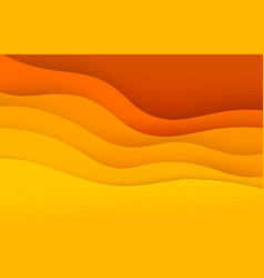 Abstract papercut background vector