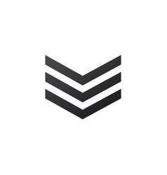 Badge military icon army chevron stock isolated vector