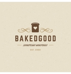 Bakery Logo Template Design Element vector
