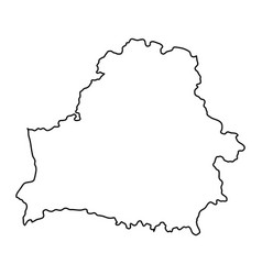 Belarus map of black contour curves of vector