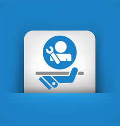 Best assistance icon vector