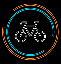 bicycle icon - bike - sport vector image