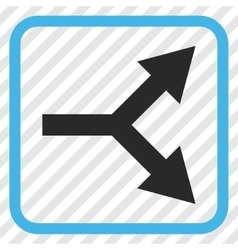 Bifurcation Arrow Right Icon In a Frame vector