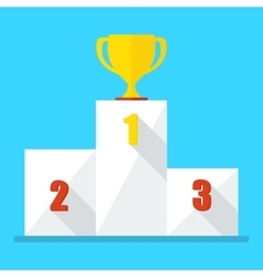 blue cup winner icon vector image