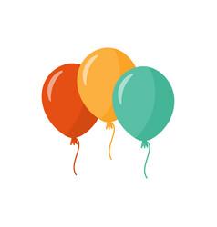 Bunch balloons three colorful balloons vector