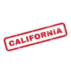 California Text Rubber Stamp vector