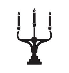 Candelabrum or candelabra candle holder vector