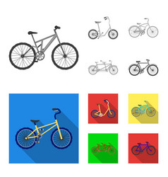 children bicycle a double tandem and other types vector image