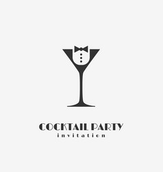 cocktail party logo vector image