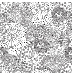 Coloring pages for adults bookseamless black vector