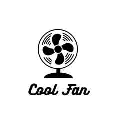 Cool fan icon vector