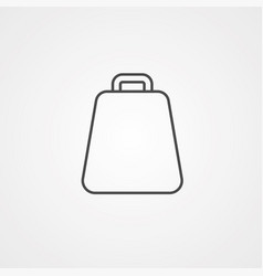 cowbell icon sign symbol vector image