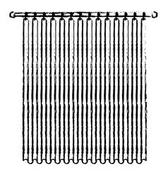 Curtain of room holding in a pole blurred vector