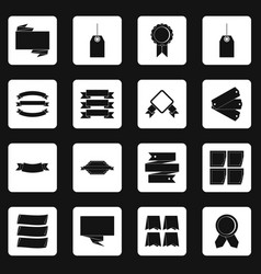 Different colorful labels icons set squares vector