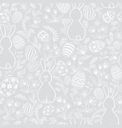 easter holiday seamless pattern vector image