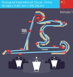 F1 China circuit 2011 vector image