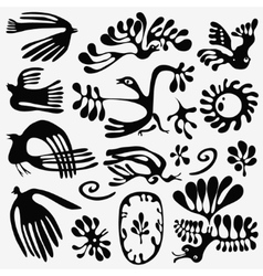 fairy birds - icons set vector image