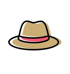 Fedora hat cartoon style cap icon vector