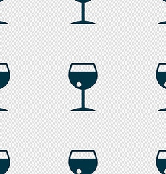 Glass of wine icon sign Seamless pattern with vector