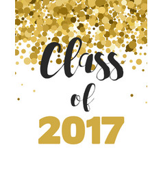 Graduation class of 2017 party invitations vector