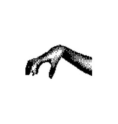 Hand grabbing something very big 8 bit vector