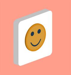 Happy face computer symbol vector