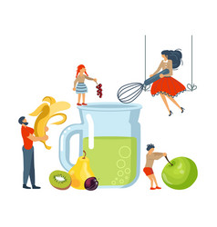 Happy family cooking concept vector