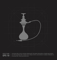 hookah icon - black creative background vector image