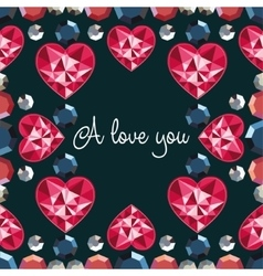 I love you seamless pattern vector image