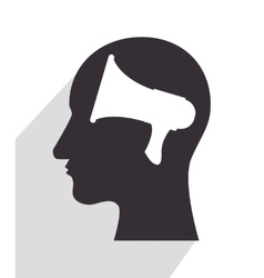 in head silhouette vector image