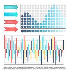Infographics and scales arrowheads and charts vector