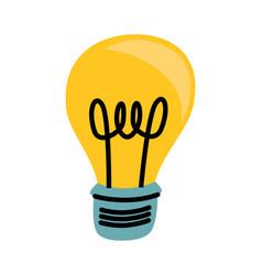 light bulb yellow cartoon vector image