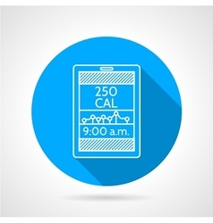 Line icon for calorie counter vector
