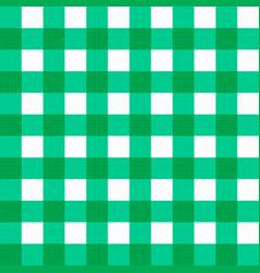 Linen gingham checkered blanket tablecloth vector