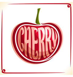 Logo for cherry vector