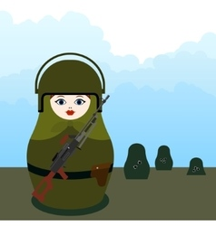 Matryoshka machine gunner vector
