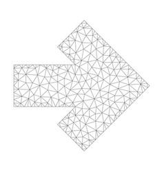 mesh arrow right icon vector image