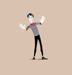 Mime pantomime vector