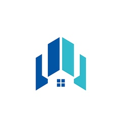 modern house building architecture logo vector image