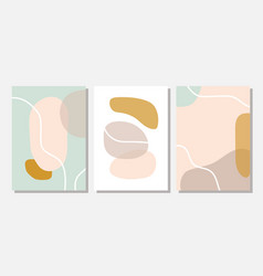 Modern templates with abstract shapes in pastel vector